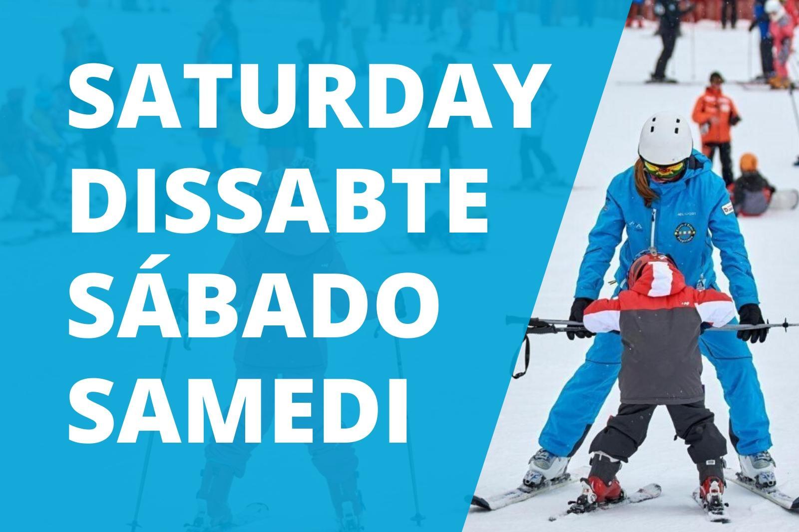 Clases colectivas de esquí 5 sábados en Port del Comte